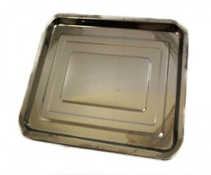 """LARGE BAKING TRAY STAINLESS STEEL OVEN ROASTING TIN 15""""x 11"""""""