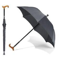 Cane Umbrella Walking Stick sun rain umbrella Wooden Handle UV withstand wind
