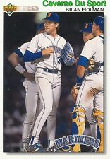 595 BRIAN HOLMAN SEATTLE MARINERS  BASEBALL CARD UPPER DECK 1992