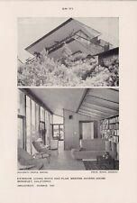 Vtg 1950s Print Weston Havens House Ext/Living Room Architect Harris BERKELEY CA