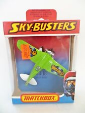 Matchbox Skybusters SB 18 Wild Wind Stunt Plane Lime White Boxed