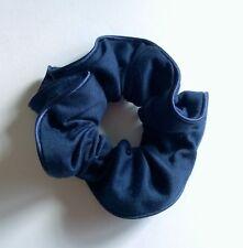 Chouchou tissu touché coton bleu marine liseré bleu marine CHF160