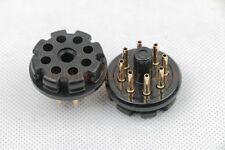 10pc Gold plated bakelite Octal 8pin tube base for 6SN7 EL34 6V6 6BG6 power plug