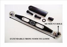 Black short shift link gear link adjustable length Harley emblem linkage 17