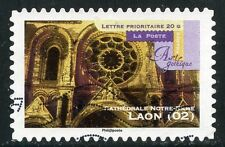 TIMBRE FRANCE AUTOADHESIF OBLITERE N° 554 ART GOTHIQUE / CATHEDRALE DE LAON
