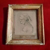 Rarissime curiosité portrait de femme grotesque signé XVIIème XVIIIème