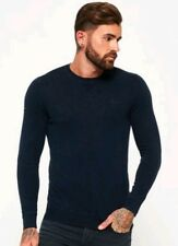 Superdry - Garment Dyed L.A Crew Neck Jumper - Navy - New With Tags