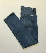 NEW Size 33X34 Men's 7 For All Mankind Slimmy Distressed Slim Leg Stretch Jeans