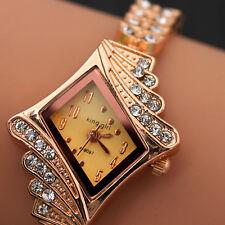 2017 Fashion Ladies Women Crystal Diamond King Girl Dress Bracelet Wrist Watches