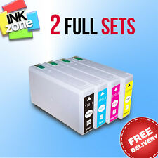 2 Full Colour Sets of non-OEM Ink for EPSON WorkForce Pro WP-4545DTWF WP-4595DNF