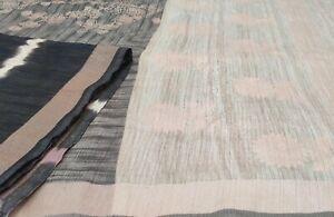 Dev Vintage Saree Art Silk Printed Floral Sari Decor Soft Craft Fabric DG-1282