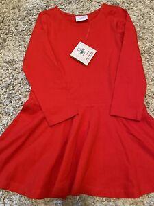 Hanna Andersson girls cherry red twirl dress nwt 110 5