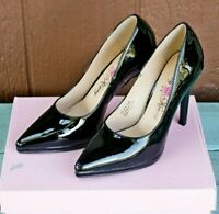 Penny Loves Kenny Opus PF Patent Black Pumps Heels Size 9.5 Comfort Sexy Career