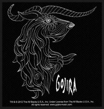 """GOJIRA - """"HORNS"""" - WOVEN SEW ON PATCH - OFFICIAL - U.K. SELLER"""
