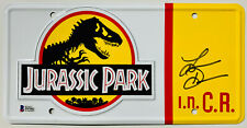 Laura Dern Authentic Signed Jurassic Park License Plate - Beckett BAS COA 2