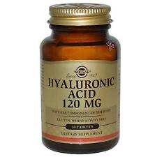Solgar Acido Ialuronico - 120mg x 30 compresse - Capelli sani, Unghie & Pelle