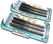 2 PACKS 6 PENS Promarx® ULTRA FINE PENS PRECISE AND VIVID LINES BLACK INK 0.5mm