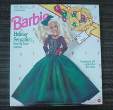 1992 Superstar Barbie Outfit #7809 HOLIDAY SENSATION Evening Gown Fashion