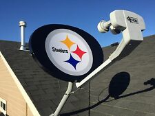 Lot Of 10 Dish Network Nfl Pittsburgh Steelers Satellite Dish Covers New Custom