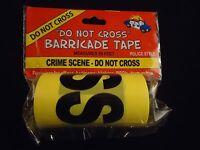 Crime Scene Do Not Cross Police Yellow Barricade Tape Funny Prank Decoration 50f