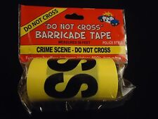 Crime Scene Do Not Cross Police Yellow Barricade Tape Funny Prank Decoration 50f