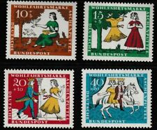 Cinderella set of 4 stamps mnh 1964 Germany B408-11 fairy tale