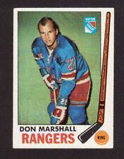Don Marshall New York Rangers 1969-70 Topps Hockey Card #39 EX/MT- NM