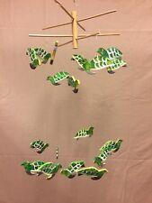 Folk Art Wood Sea Turtle Mobile Handmade & Painted Indonesia 18 Piece GIFT