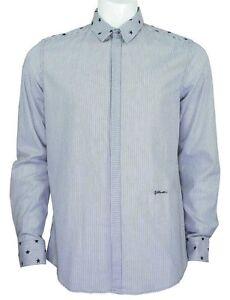 Just Cavalli Star shirt navy/white