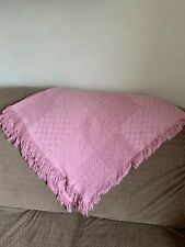 Beacon The Blanket Brand Afgan Throw 55�x48� Pink Pre-owned