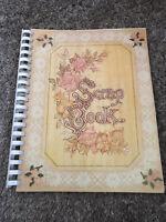 Vintage Spiral Scrapbook Floral Theme