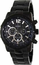 New Authentic Guess Men U0046G1 Black Stainless-Steel ,Black Dial Quartz Watch