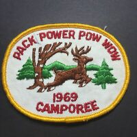 Vintage BSA Cub Scout Boy Scouts Patch 1969 Camporee Pack Power Pow Wow Oval
