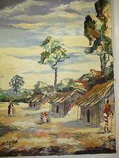 tableau Huile sur toile, DAVID ADDOGO, 40 x 54 cm, peintre Africain moderne