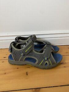 Merrell Size UK3 EU35 Grey Boys Open Toe Select Grip Panther Sandals Walking