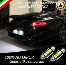 COPPIA LUCI TARGA A 3 LED PORSCHE 911 997 CANBUS NUOVO MODELLO NO ERROR