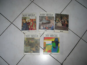 LAGARDE ET MICHARD LITTERATURE LOT DE 5 LIVRES DU XVIe SIECLE AU XXe SIECLE