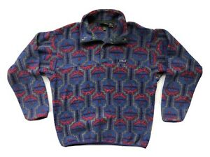 Vintage Patagonia Snap T Fleece Pullover Size M Aztec Synchilla USA