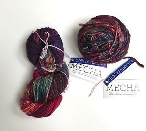 Malabrigo Mecha 100% superwash merino wool yarn, 2 skeins,Aniversario 005, Bulky
