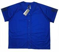 Adidas New Mens Royal Blue 2XL Sport Jersey Three Stripe Life Graphics