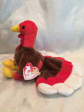 Collectible Retired Ty Beanie Baby Gobbles Turkey Born November 27, 1996