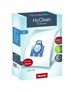 Miele 9917730 Staubbeutel GN HyClean 3D, 4 Staubbeutel, 1 Air Clean Abluftfilter
