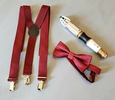 Doctor Who 12th Doctor's Sonic Screwdriver LED Cosplay w/suspenders & bowtie
