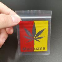 Lot Sachet zip fantaisie Marijuana,THC lot de 25.