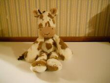 "JellyCat Bashful COW super soft floppy LARGE 17"" Bunglie brown & white long legs"