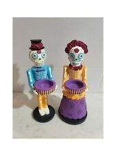 Partylite Htf Limited Edition 2015 Day Of The Dead Senor Senorita Candle Holders
