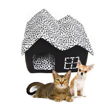 Luxury High-end Double Roof Cotto Pet Dog Cat House Room Bed 53 x 36 x 44.5cm