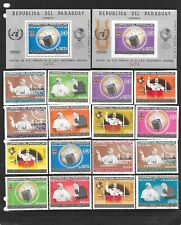 PARAGUAY Sc 903-10a NH ISSUE of 1965 perf imperf SET+S/S Space Pope Paul