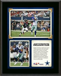 Jason Witten Becomes 3rd TE To Reach 10,000 Career Receiving Yards 10x13 Plaque