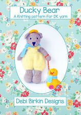 Ducky Bear TOY KNITTING PATTERN teddy duck